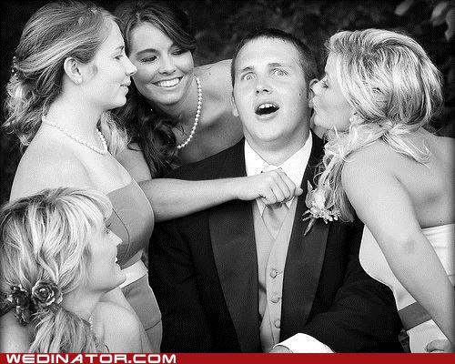 bridesmaids,funny wedding photos,girls,groom