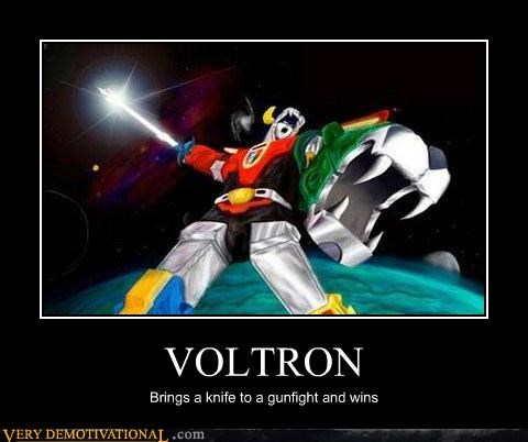 cartoons gunfight knife Pure Awesome voltron - 4911960064