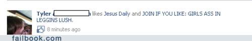jesus daily jesus christ likes christians funny - 4912296192