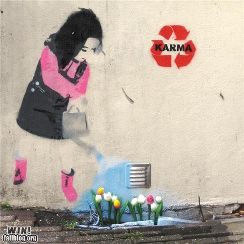 flowers gardening graffiti hacked irl water - 4913005056