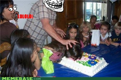 birthday cake IRL lol troll dad - 4913038336