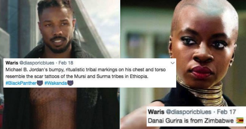 Somalian girl decodes the many African cultural references in Black Panther, for people on Twitter.