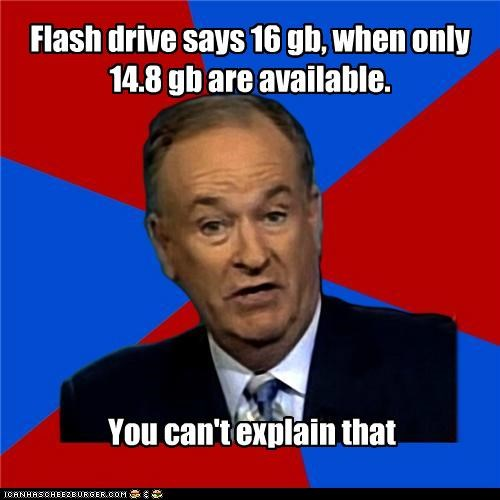 16,bill-oreilly,computers,flash drive,gb,space