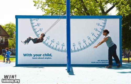 ads billboard children placement playground swings - 4913231104