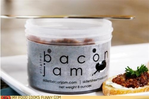 Penut butter & bacon jam sandwiches? Awesome.