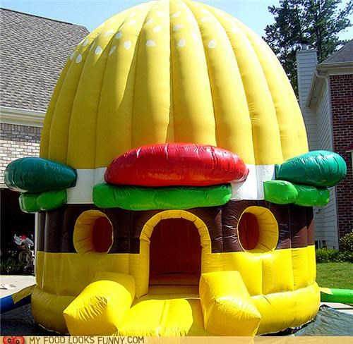 bouncy castle,burger,hamburger,inflatable,plastic