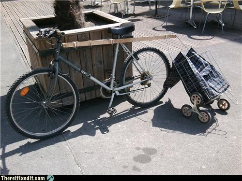 2x4,bicycle,bike,clever,towing