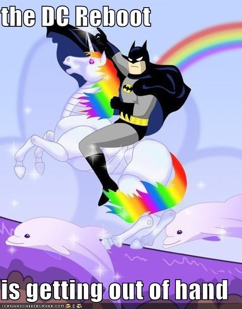 batman crazy DC reboot Super-Lols unicorn - 4913518848