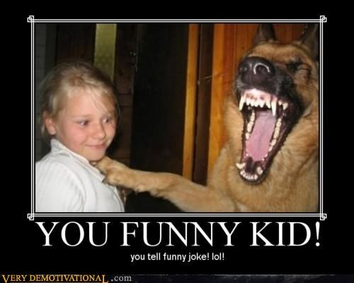 creepy,dogs,funny,joke,kid,Terrifying