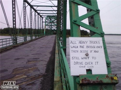 advice bridge sign warning - 4913531648