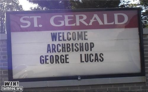 george lucas,marquee,religion,star wars