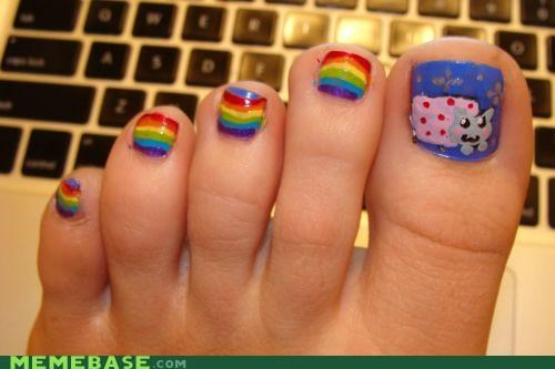 hands,IRL,k1k1chan insisted,nails,Nyan Cat,toes