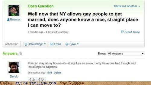 gay marriage pajamas straight Yahoo Answer Fails - 4913757184