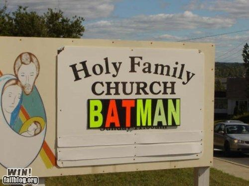batman church sign superheros - 4913760256