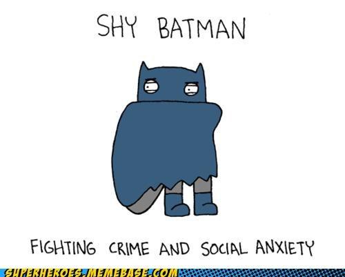 Awesome Art batman cute shy social anxiety - 4913795840