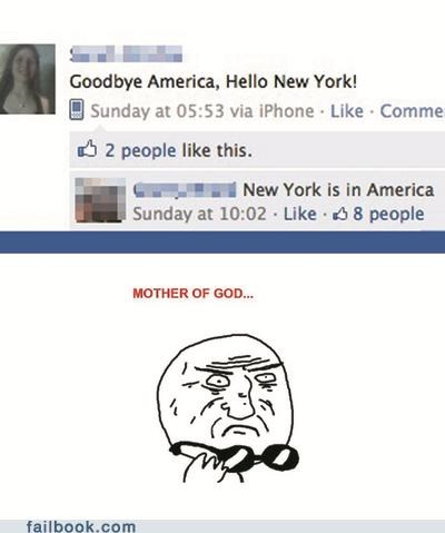 facepalm geography mother of god new york really stupid - 4913804800
