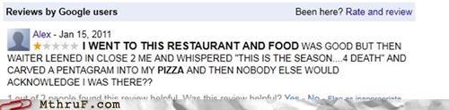 customer service pentagram pizza review - 4913921280