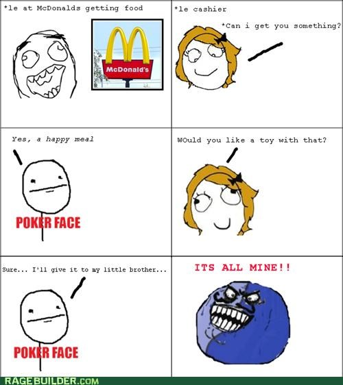 happy meal i lied McDonald's Rage Comics toy - 4913990400