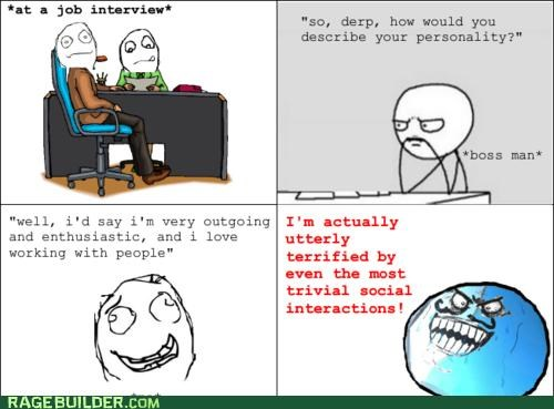 i lied job interview personality Rage Comics