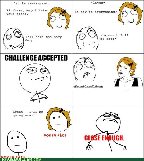 annoying Rage Comics restaurant waiter - 4914039808