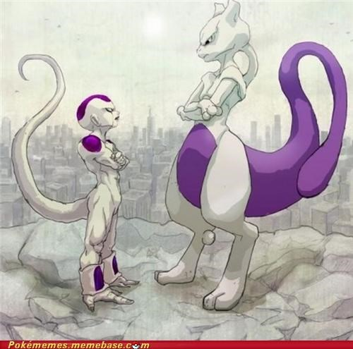 Battle,dragonball z,frieza,mewtwo