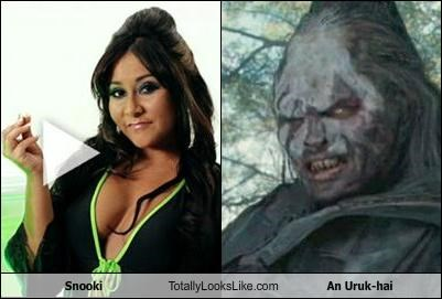 evil jersey shore Lord of the Rings reality tv snooki uruk hai