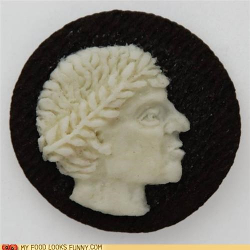 art,caesar,cameo,carving,chocolate,cookies,cream,oreo