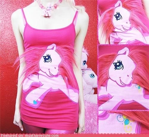 aparrel,hair,my little pony,pink,shirt,tank top