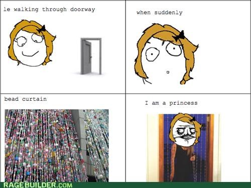 awesome,bead curtain,princess,Rage Comics