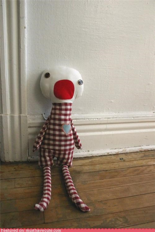 complain doll gingham handmade mouth Plush wail - 4914252032