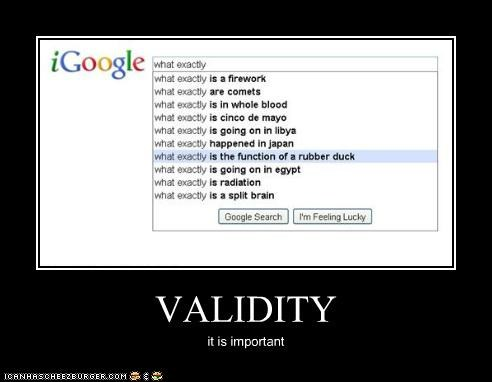 VALIDITY it is important