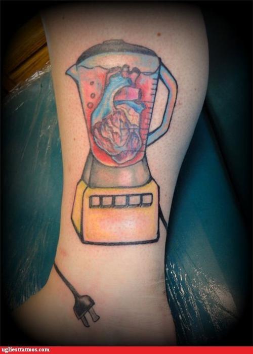 leg tattoos hearts - 4914461440