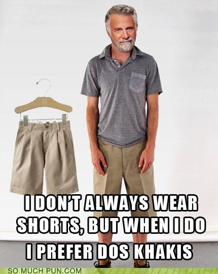 dos equis,khakis,literalism,similar sounding,the most interesting man in the world