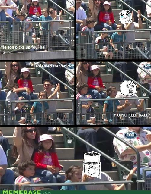 baseball faces fox i am disappoint Rage Comics son television - 4914506496