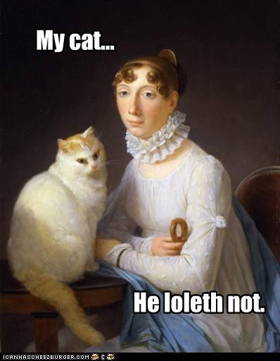 art cat color funny lady painting pet - 4914553600