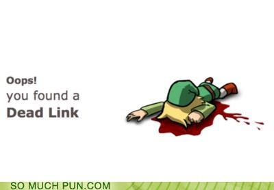 dead dead link double meaning error error message Hall of Fame link literalism name the legend of zelda