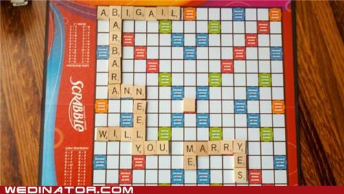 funny wedding photos Hall of Fame proposal scrabble - 4915264000