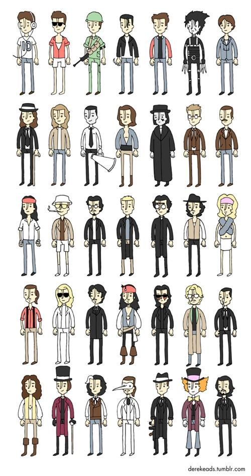 Derek Eads iconography Johnny Depp