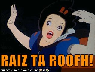 disney,Movies and Telederp,Party,roof,seven dwarfs,snow white