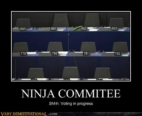 committee,hilarious,ninjas,voting