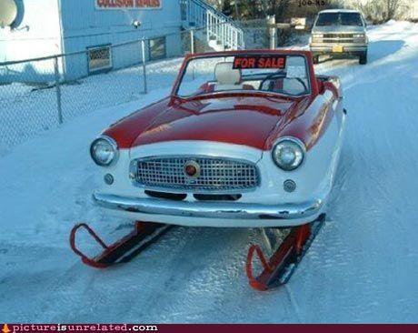 awesome car skis wtf