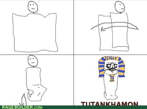 blanket,king tut,me gusta,mummy,Rage Comics