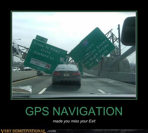 gps hilarious missed exit navigation