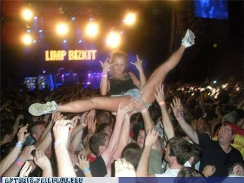 concert,crowd surfing,limp bizkit,testingzone