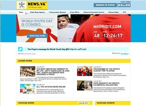 catholic church,news.va,Pope Benedict XVI,vatican,websites