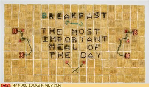 art,breakfast,cereal,chex,embroidery