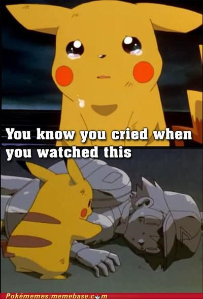ash cry emotional pikachu Sad - 4917796352