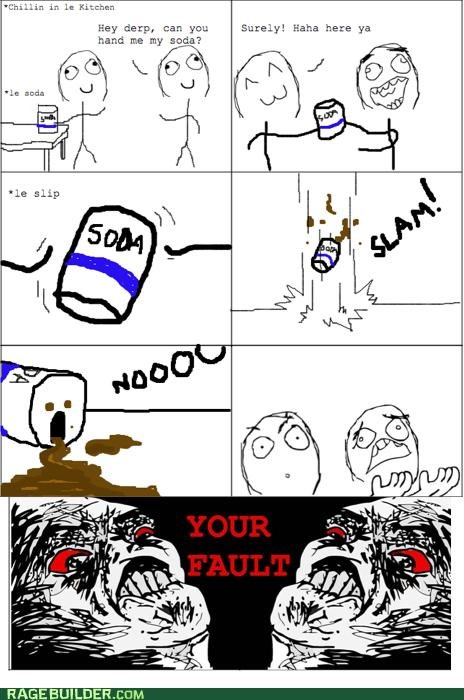 fault Rage Comics soda spill - 4917908480