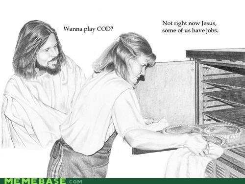 call of duty jesus jobs LOL Jesus video games work - 4918112768