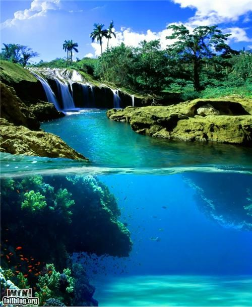 Photo relaxing vacation water waterfall - 4918191104
